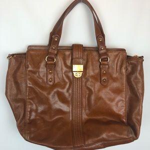 Badgley Mischka brown leather bag